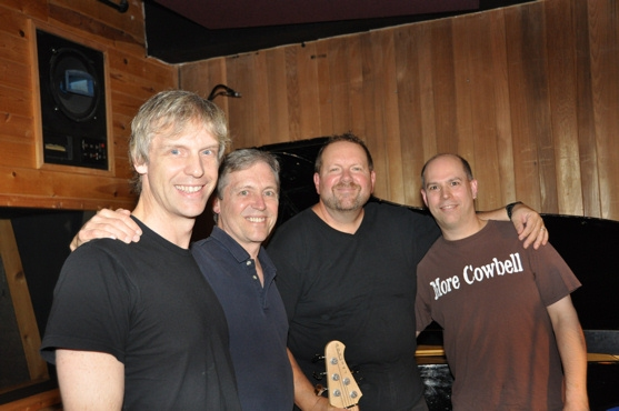 James Lowe with John Redsecker, Eric Davis and Jeff Carney