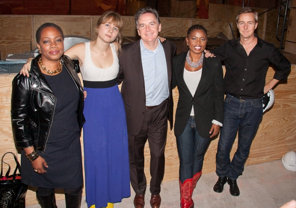 Regina Taylor, Annie Baker, James Houghton, Katori Hall, and Edward Norton Photo