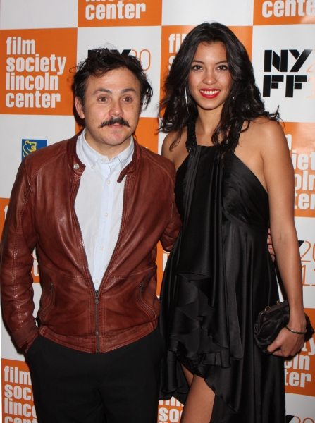 Director Gerardo Naranjo and Stephanie Sigman arriving at the 49th Annual New York Film Festival Opening Night Gala screening of ''Carnage'' at Lincoln Center's Alice Tully Hall in New York City