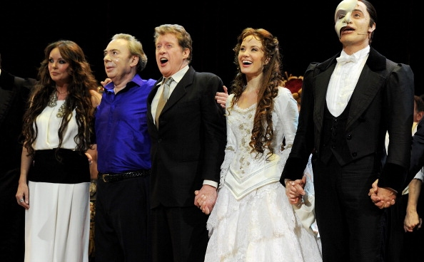 Sarah Brightman, Andrew Lloyd Webber &  Michael Crawford, Sierra Boggess and Ramin Karimloo at THE PHANTOM OF THE OPERA's 25th Anniversary Extravaganza!