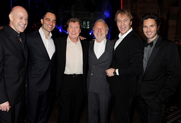 (L to R) Anthony Warlow, Ramin Karimloo, Michael Crawford, Colm Wilkinson, John Owen-Jones and Peter Joback