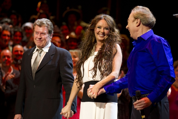 Michael Crawford, Sarah Brightman, Andrew Lloyd Webber at THE PHANTOM OF THE OPERA Celebrates 25 Years!