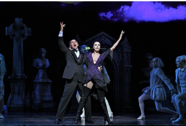 Douglas Sills (Gomez) and Sara Gettelfinger  at First Look at THE ADDAMS FAMILY National Tour!