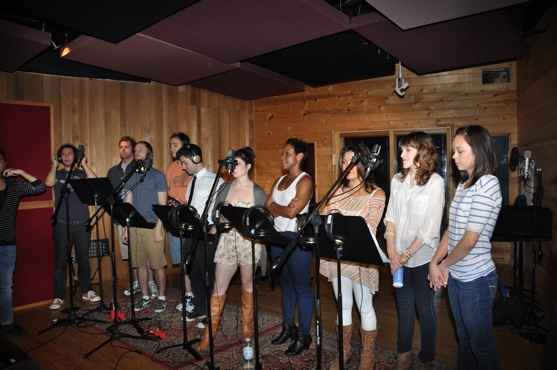 The Cast of Ave. Q-Jed Resnick, Nicholas Kohn, Rob Morrison, Michael Liscio Jr.  Adam Kantor, Veronica J. Kuehn, Haneefah Wood, Hazel Anne Raymundo, Lexy Fridell and Kate Lippstreu