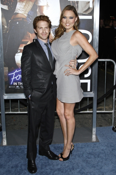 Seth Green; Clare Grant  at FOOTLOOSE Movie Premieres in Los Angeles!
