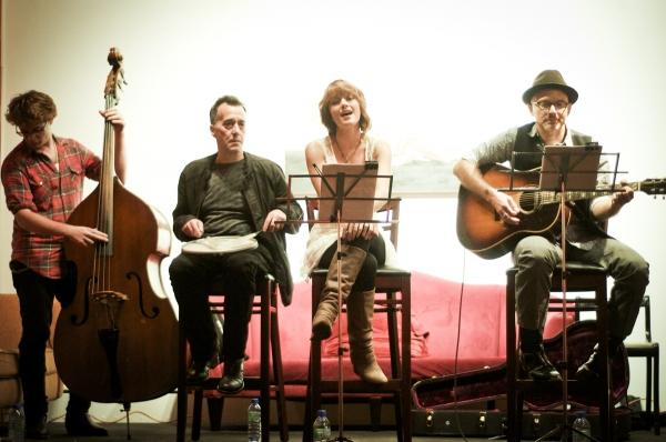 Lorenzo Wolf, Eddie Zwiebeck, Kimberly Kaye and Michael Cerveris Photo