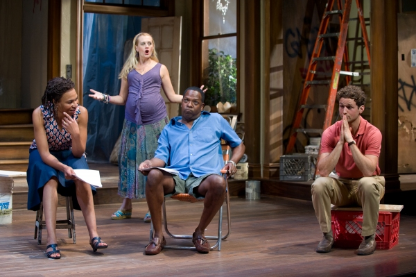 Karen Aldridge, Stephanie Childers, ensemble member James Vincent Meredith and Brendan Marshall-Rashid at Steppenwolf Theatre's CLYBOURNE PARK