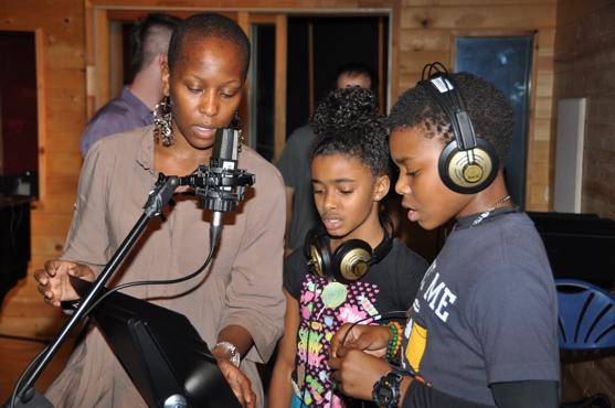 Selloane Nkhela, Imari Smith and Aubrey Omari