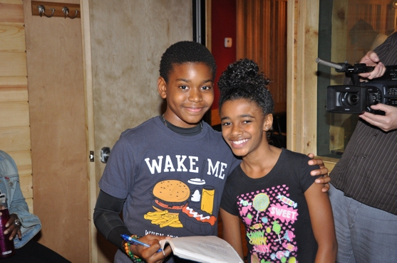 Aubrey Omari and Imari Smith