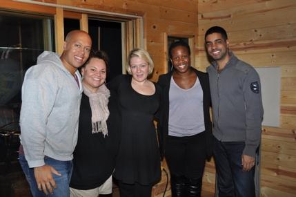Lelund Durond Thompson, Keala Settle, Lynn Pinto (Procuer), Anastacia McCleskey and Jason Michael Webb (Musical Director)