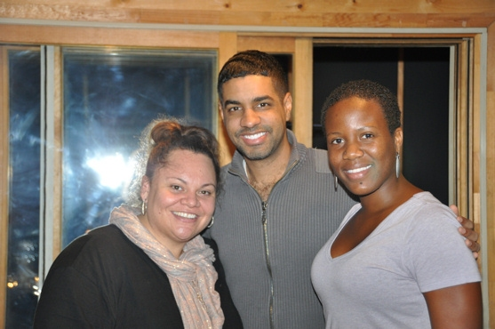 Keala Settle, Jason Michael Webb and Anastacia McCleskey at PRISCILLA's Anastacia McCleskey Sings for 'Carols for a Cure'