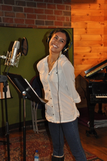Ashley Argota at Ashley Argota & BILLY ELLIOT Musicians Record for 'Carols for a Cure'