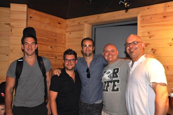 Craig Magnano, Sonny Paladino, Jared Schonig, Thommie Retter and Steve Milhouse Photo