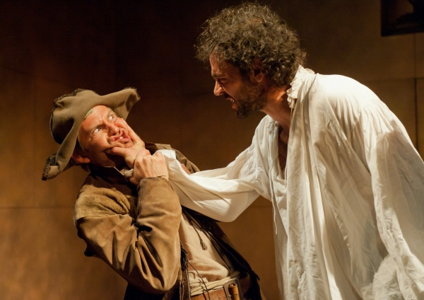 Peter Bramhill (as Moscatel) and Milo Twomey (as Don Alonso)  Photo