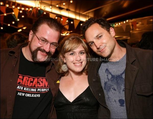 Cast members Lowell Bartholomee, Meg Sullivan and E. Jason Liebrecht