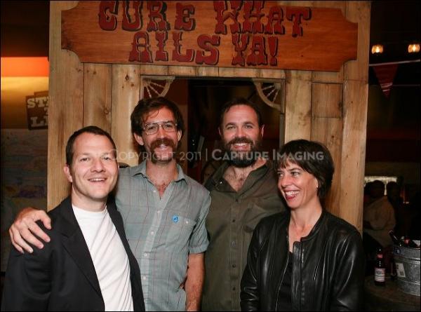 Writer Kirk Lynn, Co-Director/cast member Thomas Graves, Composer/cast member Peter S Photo