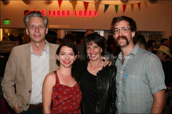CTG Artistic Director Michael Ritchie poses with cast member Jenny Larson, Co-Directors/cast members Lana Lesley and Thomas Graves