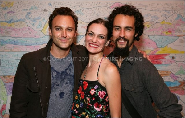 Cast members E. Jason Liebrecht, Erin Meyer and Noel Gaulin Photo