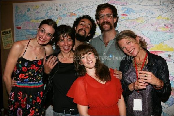 CULVER CITY, CA - OCTOBER 8: (L-R) Cast member Erin Meyer, Co-Director/cast member La Photo