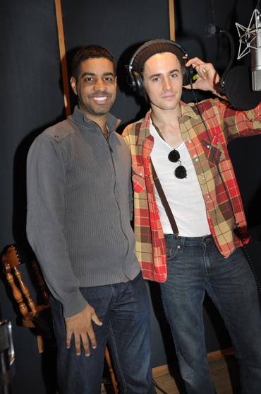 Jason Michael Webb and Reeve Carney at SPIDER-MAN's Reeve Carney, T.V. Carpio Sing For 'Carols for a Cure'