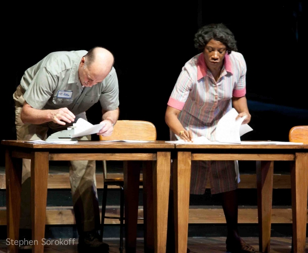 Massachusetts Gov. Patrick Visits THE BEST OF ENEMIES at Barrington Stage