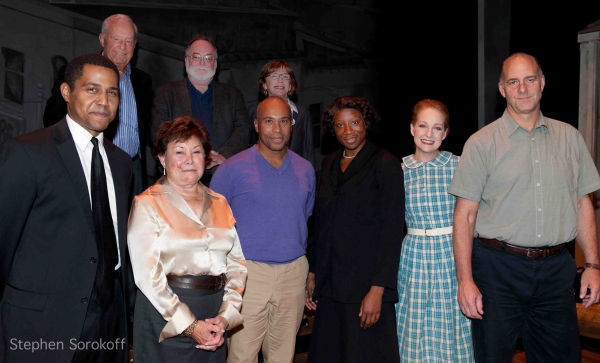 Don Guillory, Sydelle Blatt,Gov. Deval Patrick, Aisha Hinds,Susan Wands,John Bedford Lloyd, Lee Blatt, Mark St. Germain, Julianne Boyd