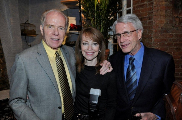 William Kennedy, Judy Sanders, Walter Kicinski at Trattoria Dopo Teatro Honors Author William Kennedy