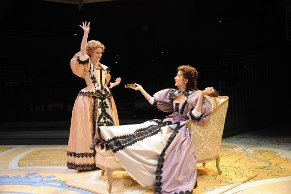 (l-r) Amelia Pedlow, Jeanine Serralles at BWW Reviews:  Denver Center's THE LIAR - C'est Magnifique