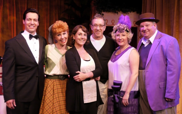 Tim Allen and Kim Flagg with cast- Bill Mendieta, Sirena Irwin, Lisa Joffrey and Bill Chott