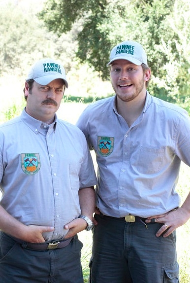 Nick Offerman & Chris Pratt at NBC's 'Parks & Recreation's  Pawnee Rangers Episode
