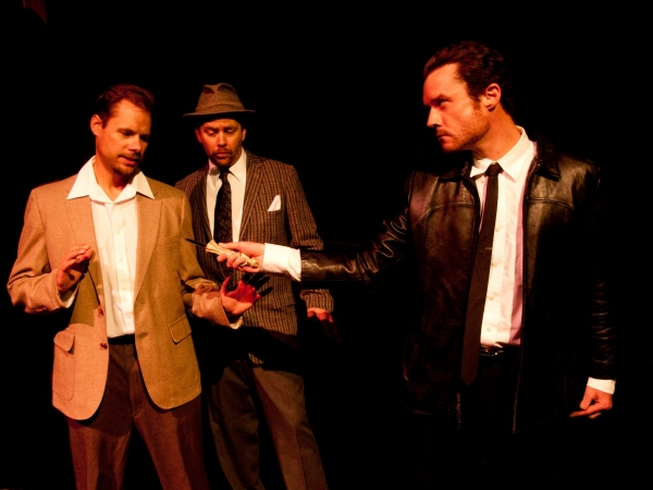 (L to R) Doug Tisdale as Mike, Scott Hogg as Carlino, and Chris Young as Roat at NOW PLAYING: Spotlight Theatre Presents WAIT UNTIL DARK thru 11/5