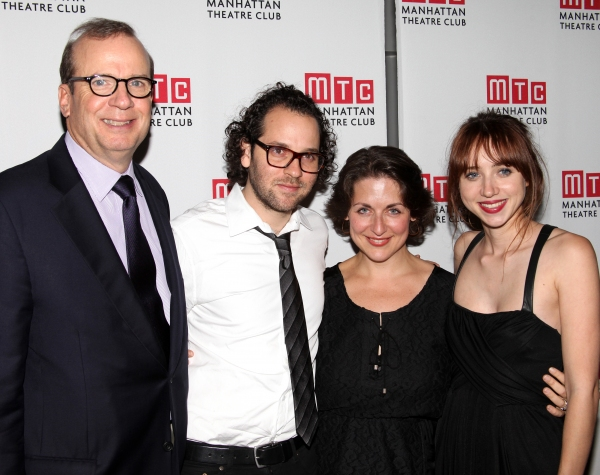 Barry Grove, Sam Gold, Mandy Greenfield, Zoe Kazan  at Zoe Kazan's WE LIVE HERE Celebrates Opening Night at MTC