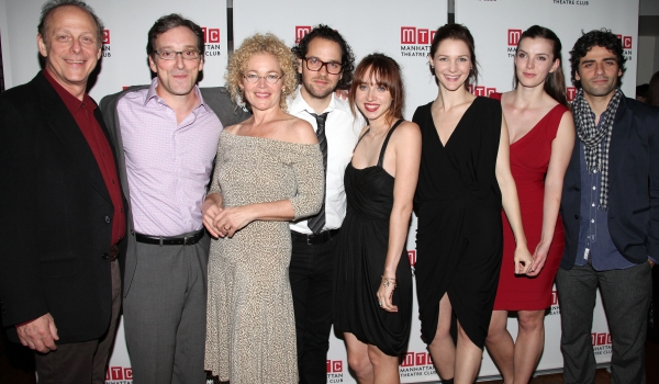 Mark Blum, Jeremy Shamos, Amy Irving, Director Sam Gold, Playwright Zoe Kazan, Jessica Collins, Betty Gilpin & Oscar Isaac