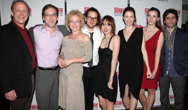 Mark Blum, Jeremy Shamos, Amy Irving, Director Sam Gold, Playwright Zoe Kazan, Jessic Photo