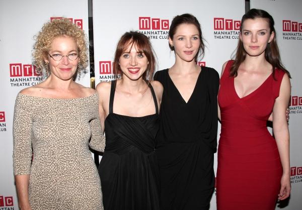 Amy Irving, Playwright Zoe Kazan, Jessica Collins, Betty Gilpin  Photo