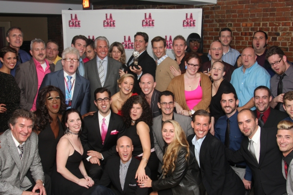 The cast and company of La Cage aux Folles