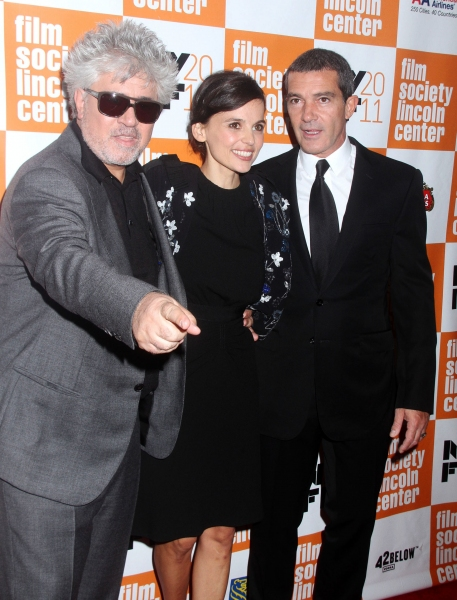Pedro Almodovar, Elena Anaya, Antonio Banderas at Antonio Banderas at THE SKIN I LIVE IN Premiere