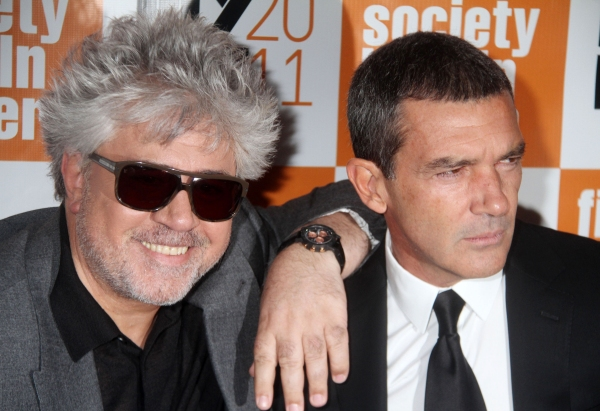 PEDRO ALMODOVAR and ANTONIO BANDERAS at Antonio Banderas at THE SKIN I LIVE IN Premiere