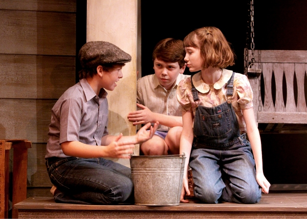 Frankie Seratch as Jem, Ethan Haberfield as Dill, and Emmanuelle Nadeau at Shakespeare Theatre of NJ Presents TO KILL A MOCKINGBIRD