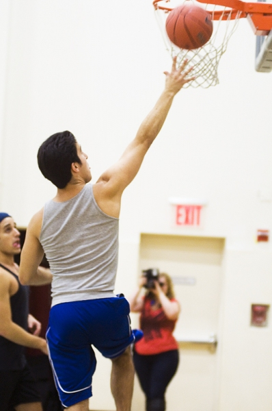 Alexander Aguilar at NBA's Chris Millen Coaches LYSISTRATA JONES Cast!