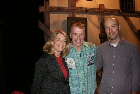 Urban Stages Founder and Artistic Director Frances Hill, creator/performer Bill Bowers and his director Scott Illingworth