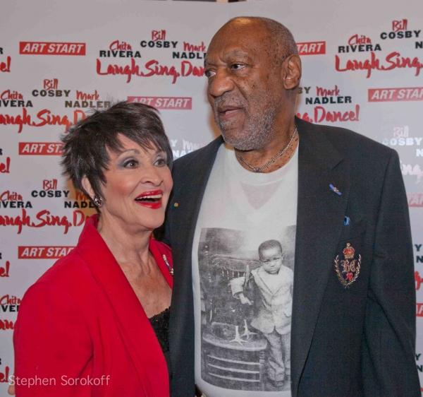 Chita Rivera & Bill Cosby at Bill Cosby , Chita Rivera & Mark Nadler Lead 'Laugh, Sing, Dance!' Benefit