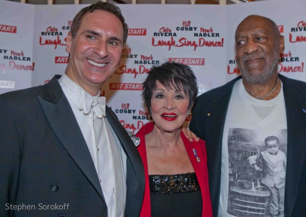 Mark Nadler, Chita Rivera, Bill Cosby at Bill Cosby , Chita Rivera & Mark Nadler Lead 'Laugh, Sing, Dance!' Benefit