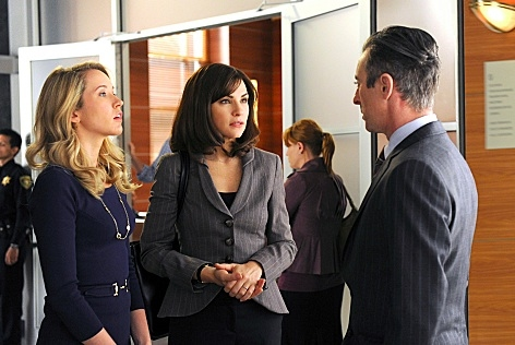 Anna Camp, Julianna Margulies & Alan Cummings at Parker Posey Guest Stars in Upcoming Episode of THE GOOD WIFE