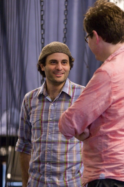 Arian Moayed and James Macdonald in rehearsal for King Lear, directed by James Macdonald, running at The Public Theater October 18-November 20.