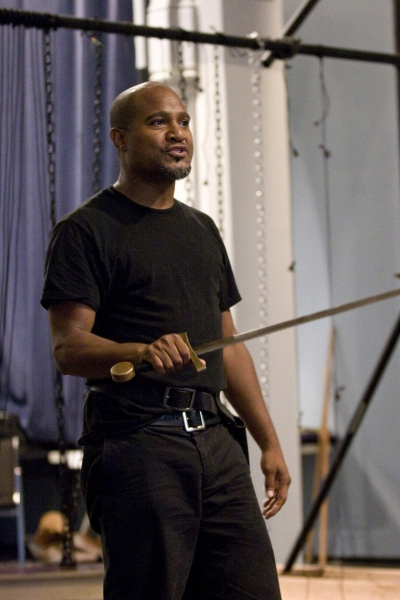 Seth Gilliam in rehearsal for King Lear, directed by James Macdonald, running at The  Photo