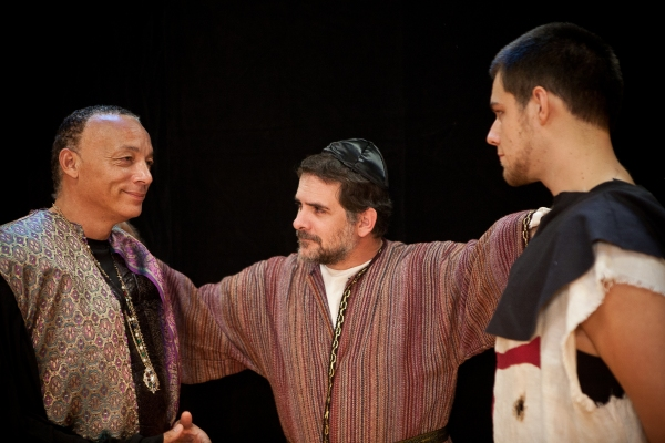 Joseph Henderson, Jason Peck and Lucas Campbell in NATHAN THE WISE Photo