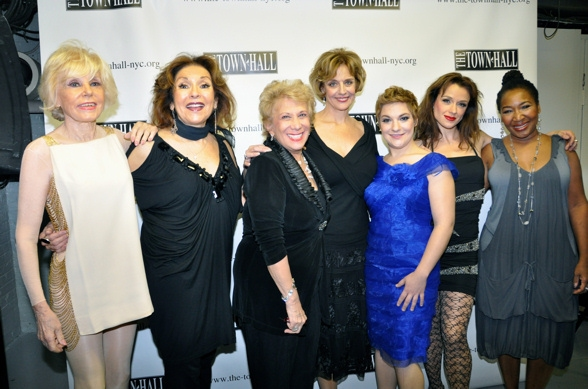 Yvonne Constant, Lorraine Serabian, Marilyn Michaels, Marianne Tatum, Daisy Eagan, Sarah Uriarte Berry and Andrea Frierson