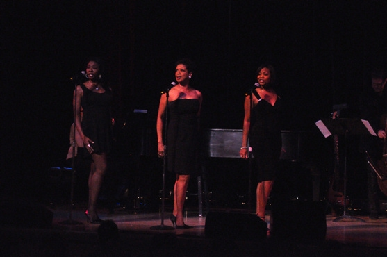 Marva Hicks, Vanessa A. Jones and Ramona Keller at Tammy Grimes, Sarah Uriate Berry, et al. at Town Hall's BROADWAY ORIGINALS