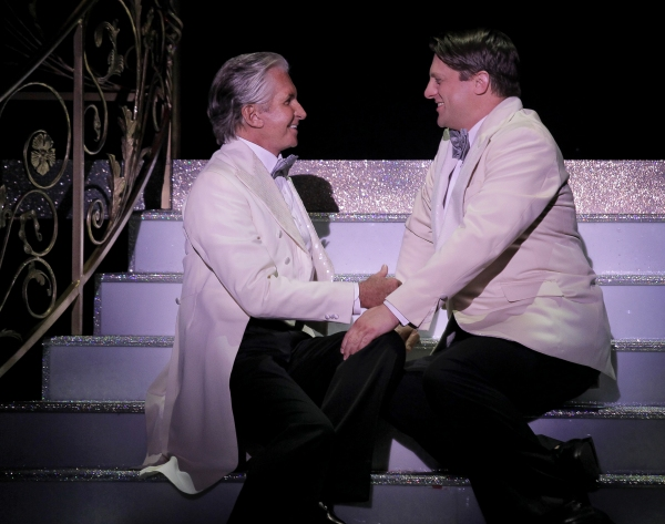 George Hamilton  and Christopher Sieber  at First Look at Christopher Sieber, George Hamilton in LA CAGE AUX FOLLES Tour